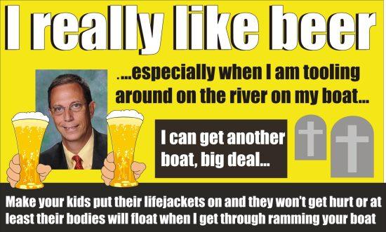 Del Don Dwyer boat busting boozing lawmaker
