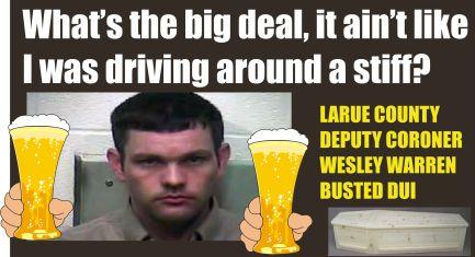 Larue County deputy coroner Warren DUI KY