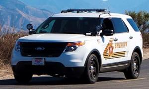 San Bernadino County Sheriff patrol vehicle
