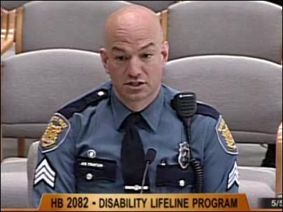 Sgt. Joe Fountain, Seattle Police DUI in police car Feb. 14 2012
