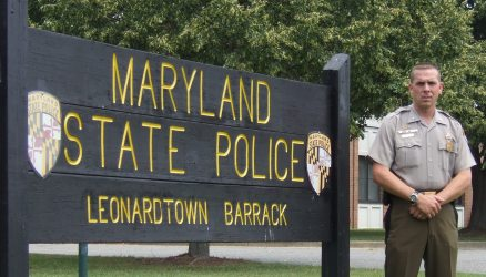 Lt. Mike Thompson, Commander of Leonardtown Barrack of the Maryland State Police.