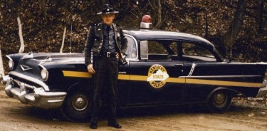 Kentucky State Police trooper and cruiser 1950's.