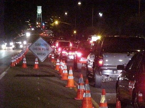 Burbank Police sobriety checkpoint