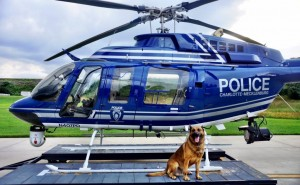 Char Meck Police chopper Snoopy and Bevo