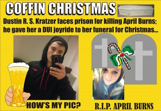Dustin Kratzer faces prison for DUI death of April Burns Crimora Va 121814