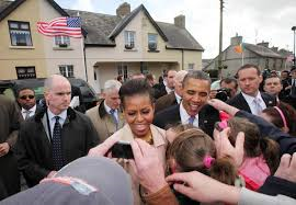 Secret Service Agent Mark Connolly, left, on a Presidential visit to Ireland.
