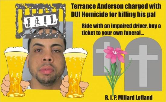 Terrance Anderson DUI homicide killed Millard Lofland Newark Del