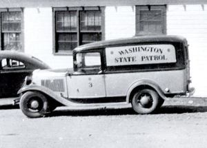Washington State Patrol old car