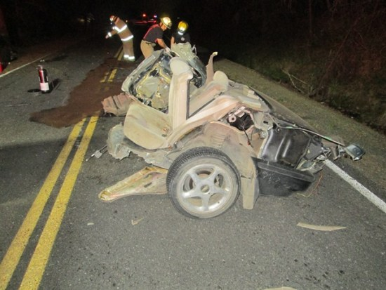 Erric Fisher cut his car in half in DUI crash, charged with DUI manslaughter in death of Austin Pedro.