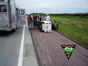 I 29 motorcycle crash near Sturgis South Dakota Highway Patrol