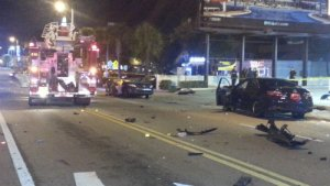 Fatal crash scene of DUI DJ in Miami found guilty 100215. photo Miami Fire Department
