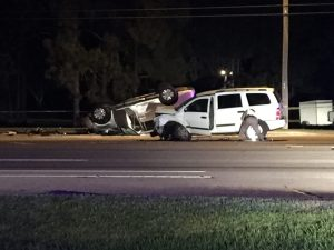 DUI crash in Collier Co Fla leaves one dead 121315. Photo courtesy of WINK
