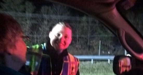 Federal Police Officer assisted Maryland State Police and Charles Sheriff's Officers on Rt. 228 Waldorf sobriety checkpoint 121615