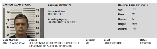 Ohio: Defiance, Lucas, and Henry County OWI arrest bookings from