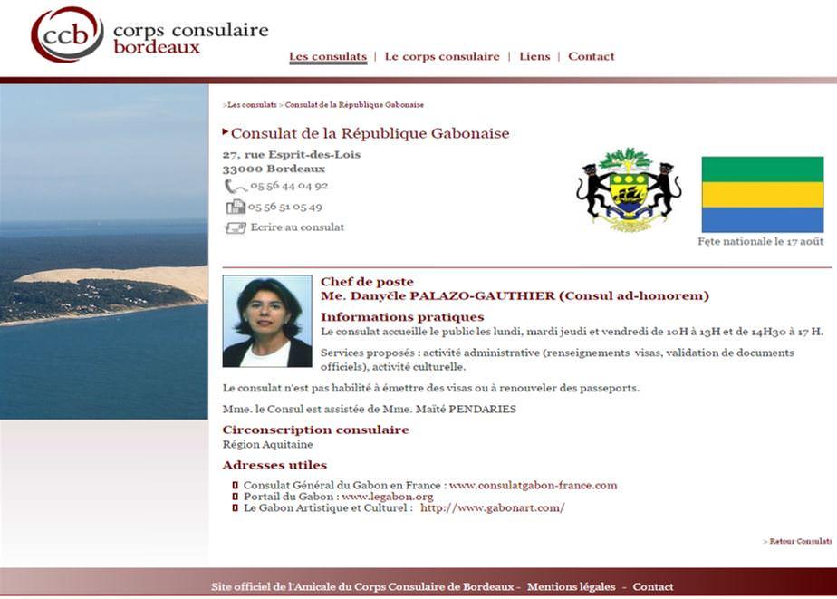 Consul honoraire de la République Gabonaise à Bordeaux-Mme DANYÈLE PALAZO GAUTHIER
