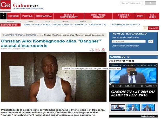 Christian Alex Kombegnondo alias Dangher-accusé d'escroquerie