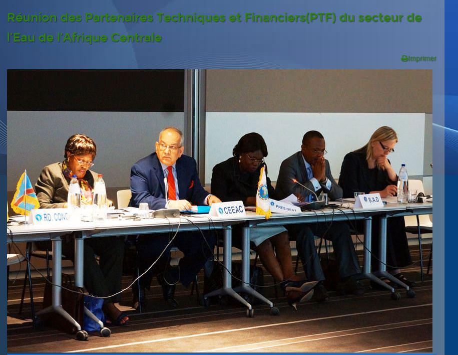 l'Hôtel Pullman  de Bruxelles a servi de cadre à la tenue de la Réunion des Partenaires Techniques et Financiers(PTF) du secteur de l'Eau de l'Afrique centrale