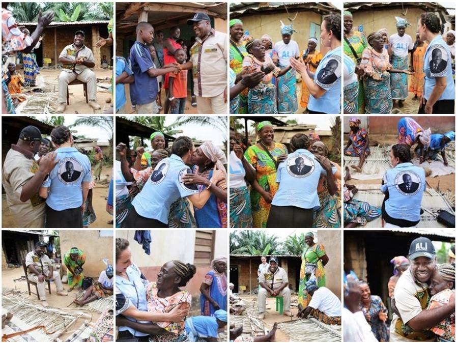 Ali Bongo Ondimba à la rencontre des populations de la Nyanga