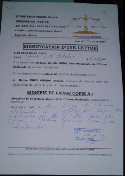 lettre-de-mme-estelle-ondo-ministre-de-leconomie-forestiere-de-la-peche-et-de-lenvironnement-au-parti-un-000