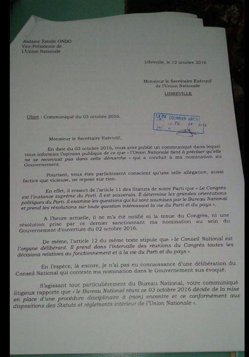 lettre-de-mme-estelle-ondo-ministre-de-leconomie-forestiere-de-la-peche-et-de-lenvironnement-au-parti-un-001