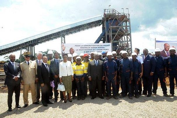 Ali Bongo Ondimba inaugure l'usine de la Nouvelle Gabon Mining SA