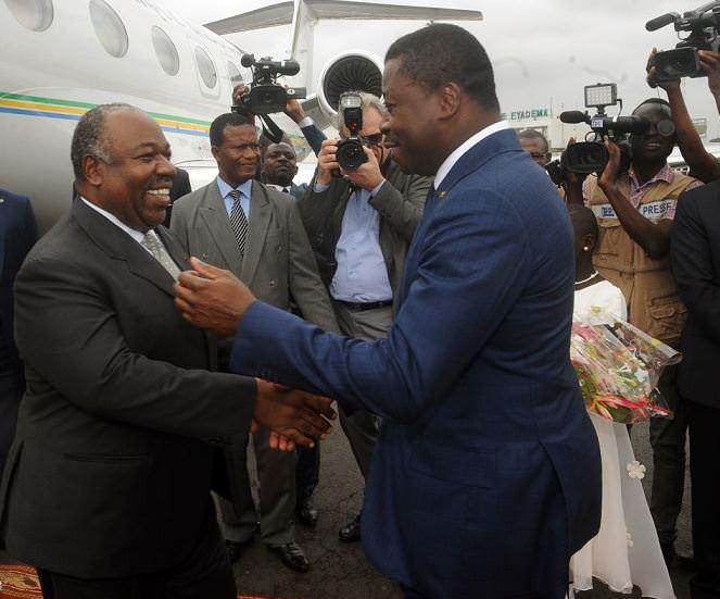 Diplomatie-Arrivée du président Ali Bongo Ondimba au Togo