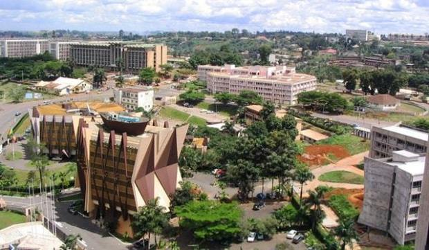 Une vue de la ville de Yaoundé (Cameroun)