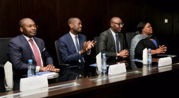 Le ministre du Travail et de l'Emploi, de la Formation technique et professionnelle, et de l'Insertion des jeunes, M. Eloi Nzondo,