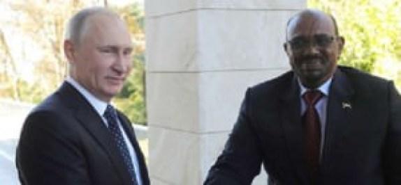 Le président russe Vladimir Poutine et son hiomalogue soudanais Omar al-Bashir