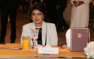 La présidente mauricienne Ameenah Gurib-Fakim à Doha le 21 mai 2016 ©AFP