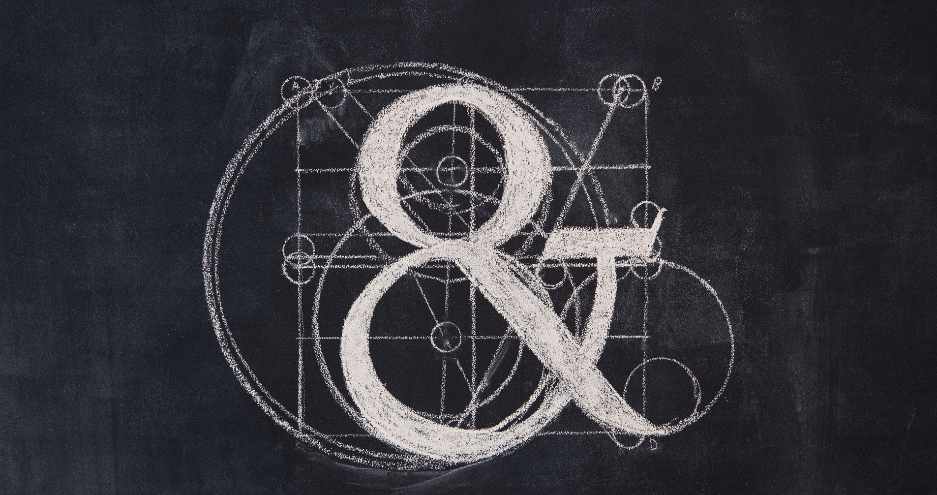 Anatomy of an Ampersand, a Vitruvian sketch of an ampersand