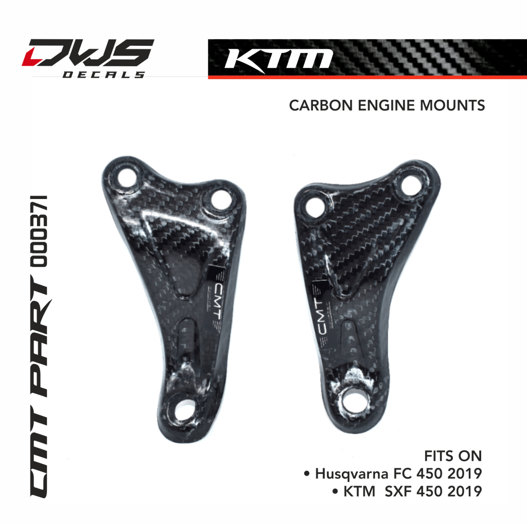 Carbon Engine Mounts For Ktm Sxf 450