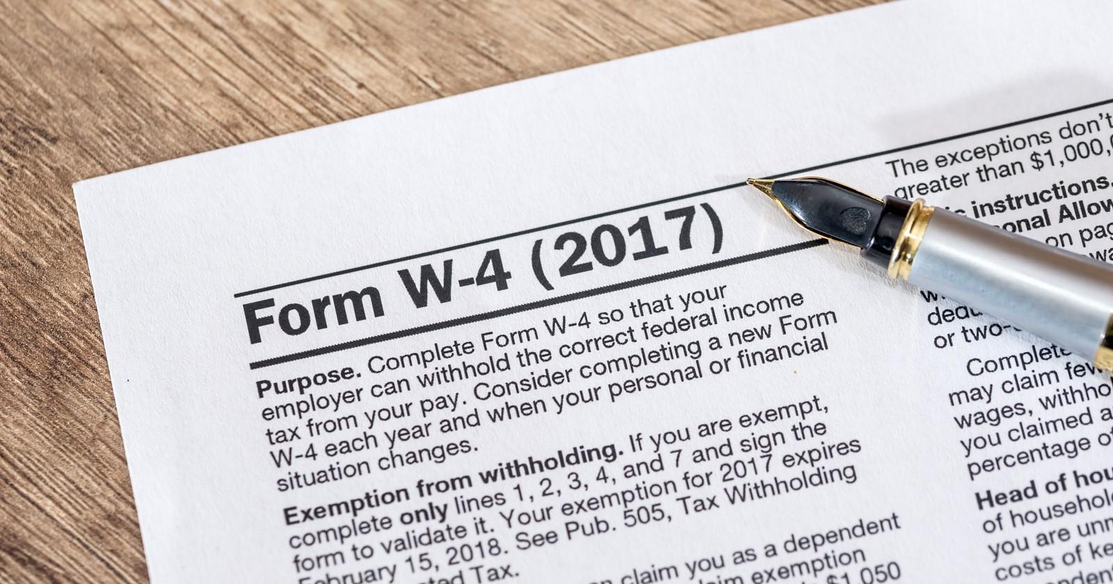 Irs Issues Revised Form W 4 For