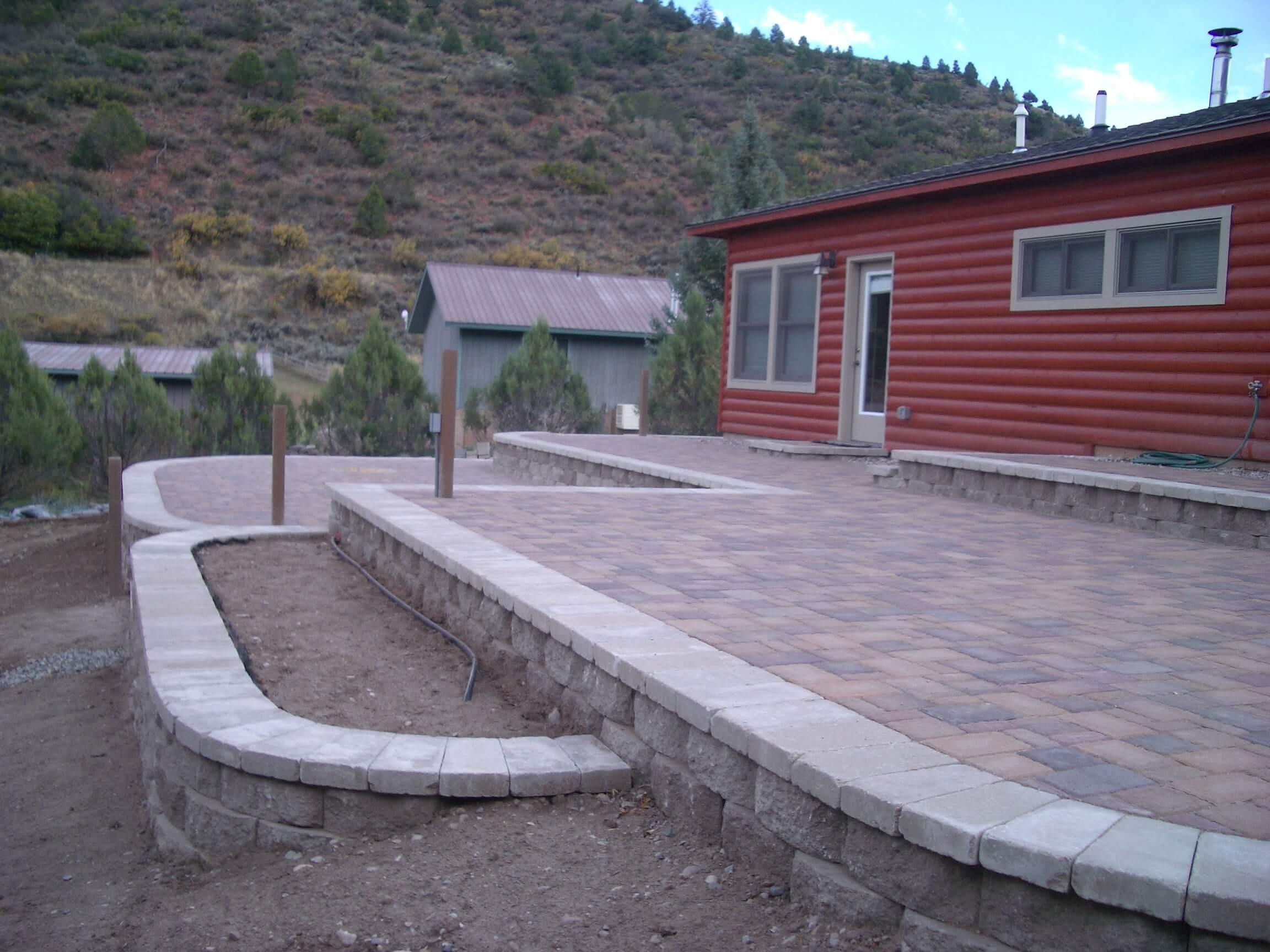 leven multi level patio landscaping