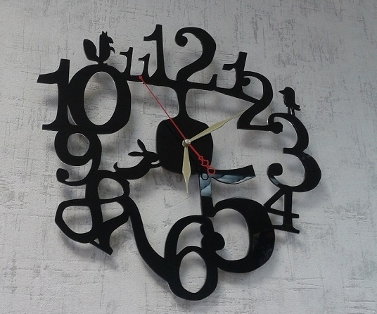 Beautiful Wall Clock Vector For Cnc Router Or Laser DXF