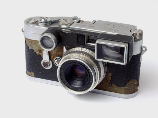 Leica M3, aquela que ainda vou restaurar - frente