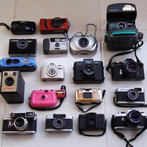 Como você mostra sua coleção de câmeras analógicas?