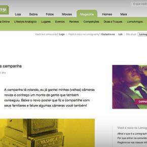 """""""Mais um poster da campanha"""": artigo publicado na Lomography Magazine"""