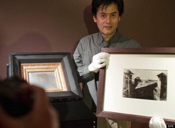 A fotografia mais antiga do mundo, e seu negativo