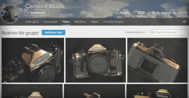 Flickr: o grupo Camera Mods
