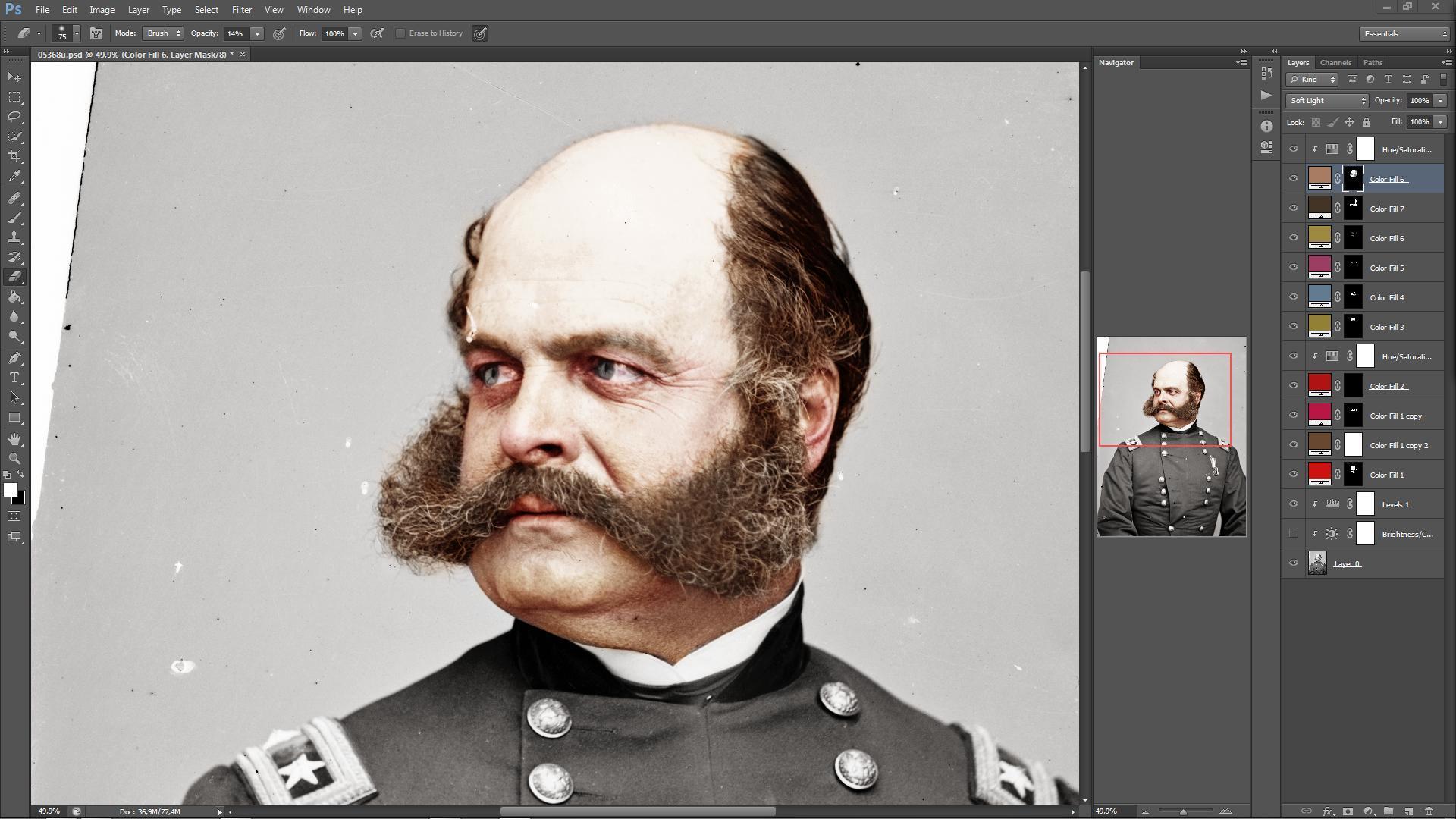 Tutorial de colorização de imagens em preto e branco