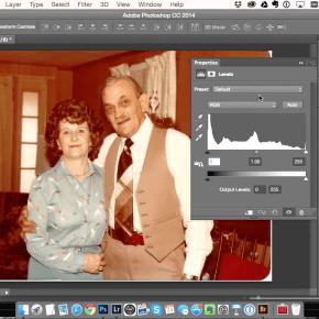 Níveis no Photoshop para corrigir fotos antigas