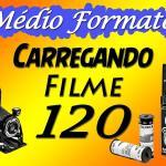 Câmera Velha #7 Carregando câmera de médio formato