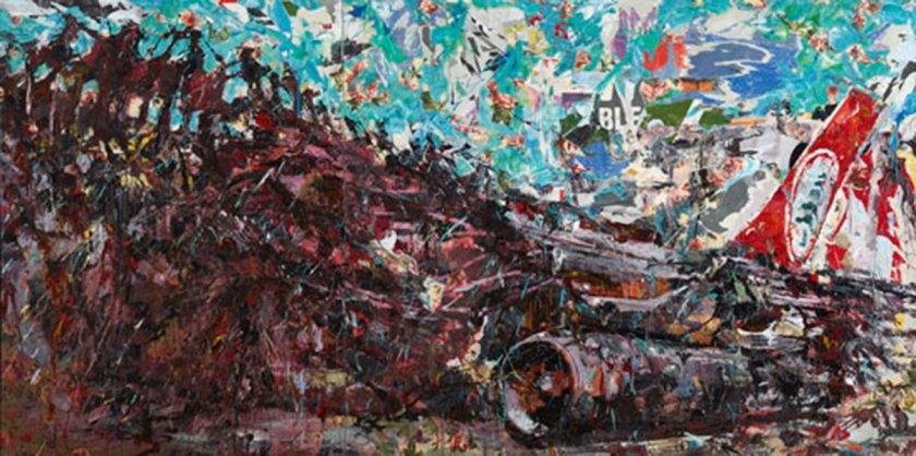 "Ayman Baalbaki, ""Mea"" Mixed Media On Canvas, 200 X 400 Cm, 2014-2015 Collection Ramzi & Saeda Dalloul Art Foundation Courtesy Of Agial Gallery, Beirut"
