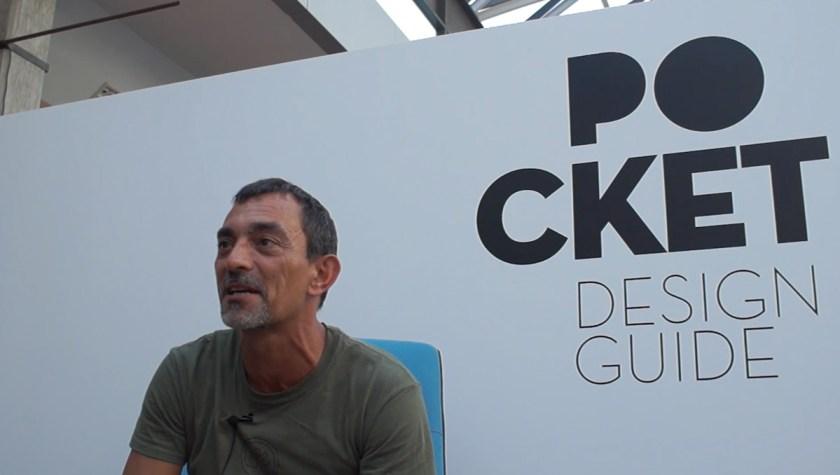 Juan Carlos Iniesta responde al cuestionario de POCKET DESIGN GUIDE durante la Feria Hábitat Valencia el pasado mes de septiembre.