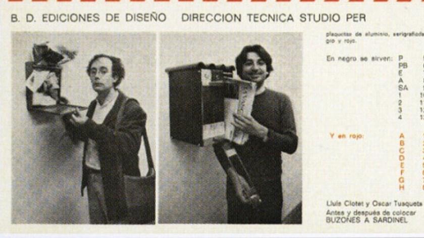 Detalle del catálogo de BD Ediciones de Diseño, 1984
