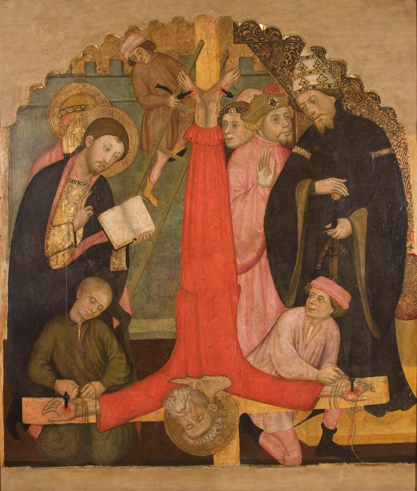 Crucifixión de san Pedro, c. 1400. Museu Nacional d'Art de Catalunya