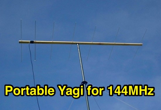 Portable Yagi for 144MHz