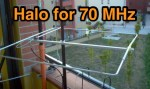 Halo antenna for 70Mhz