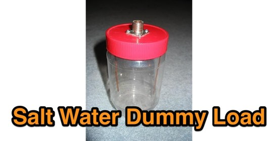 Salt water dummy load